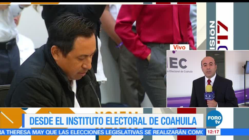 incidentes mayores, jornada, comicios en Coahuila, autoridades electorales