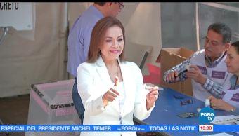noticias, forotv, Josefina Vázquez Mota, acude, emitir, voto
