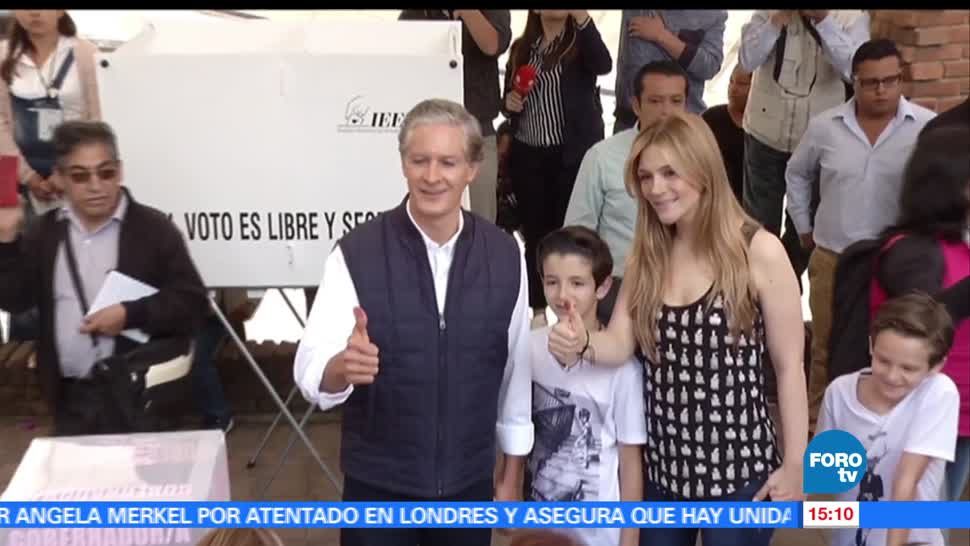 noticias, forotv, Alfredo del Mazo, vota, casilla, Huixquilucan