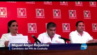 Candidato del PRI, declara ganador, Coahuila, Miguel Ángel Riquelme