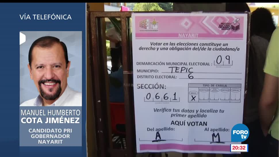 Manuel Cota, responsabilidad, se declara, ganador, elecciones, votaciones