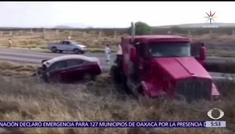 noticias, televisa, Accidente, carretero, Coahuila, cinco muertos