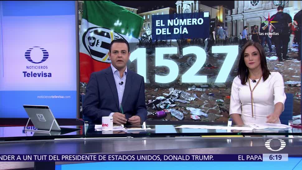 noticias, televisa, El número del día, 1,527, Turín, Italia