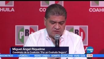 Miguel Ángel Riquelme, candidato del PRI, gobierno de Coahuila, virtual ganador