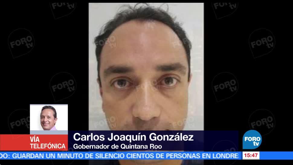 Carlos Joaquín González, gobernador de Quintana Roo, detención, Roberto Borge