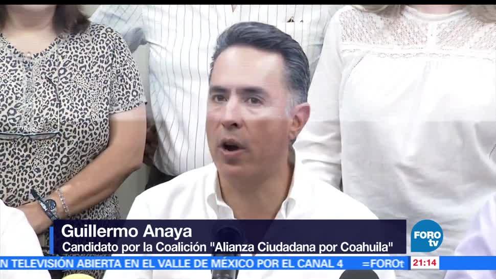 noticias, forotv, Guillermo Anaya, rechaza, cifras, PREP en Coahuila