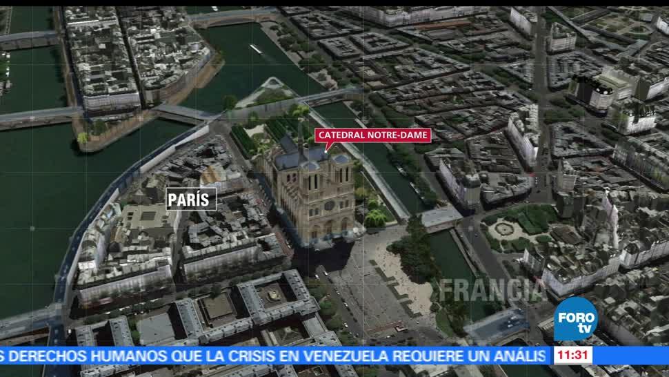 hombre armado, martillo, oficial de Policía, explanada de Notre Dame