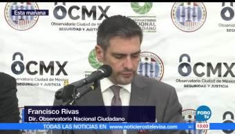 Observatorio Ciudadano, reporte, delitos, alto impacto