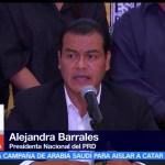 División, izquierda, Alejandra Barrales, líder nacional el PRD