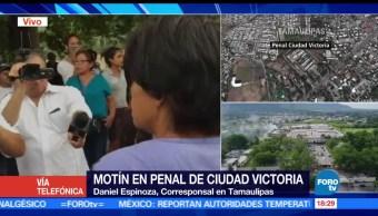 Familiares, exigen información, detonaciones, penal de Cd. Victoria