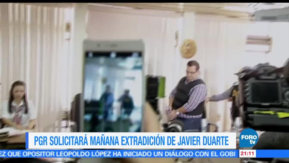 noticias, forotv, PGR, solicitara, extradición, Javier Duarte