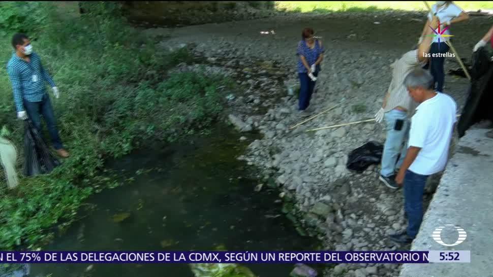 Guadalupe, Nuevo León, río 'La Silla', kilos de peces muertos
