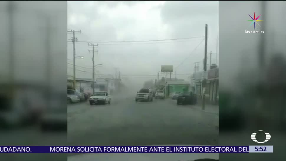 Reynosa, Tamaulipas, rachas de viento, lluvia ligera