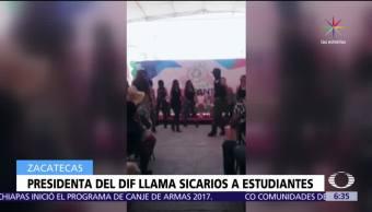 Cristina Rodríguez, gobernador de Zacatecas, sicarios, niños de secundaria