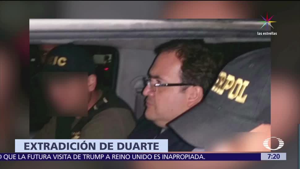 PGR, Guatemala, extradición de Javier Duarte, , Jimmy Morales