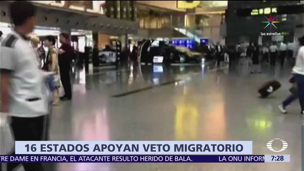 coalición, 16 estados, EU, veto migratorio, Donald Trump