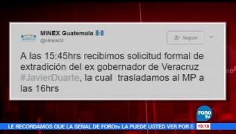 noticias, forotv, Guatemala, recibe solicitud, extradición, Javier Duarte