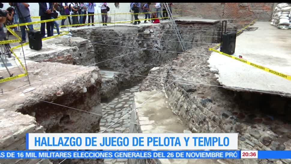 Realizan, hallazgos, arqueológicos, Templo Mayor, cancha, juego pelota