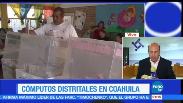 Cómputos, distritales, estado, Coahuila, recuento, votaciones