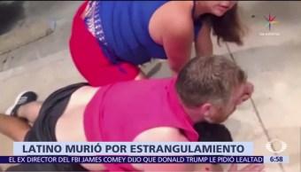 hombre estranguló, hispano en Estados Unidos, esposa, policía, agresor