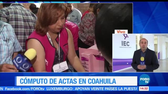 noticias, forotv, IEC, cómputo, paquetes electorales, Coahuila