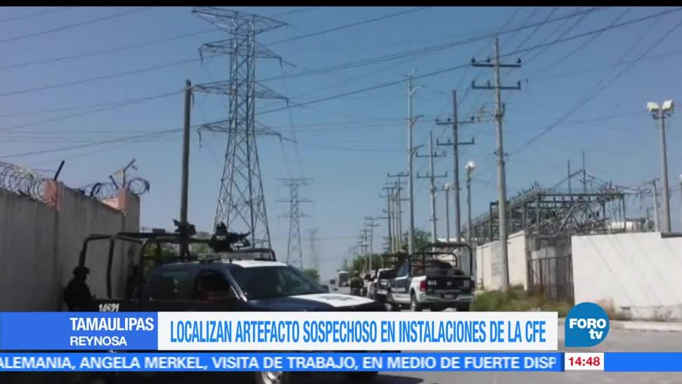 noticias, forotv, artefacto sospechoso, inmueble de la CFE, Reynosa