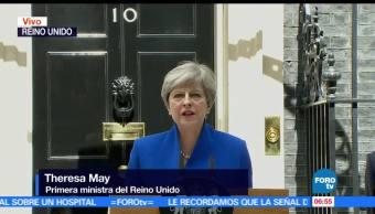 Theresa May, anuncia, nuevo gobierno, certidumbre