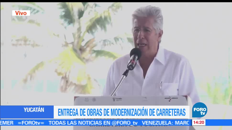noticias, forotv, SCT, entrega, obras de modernización, carreteras en Yucatán
