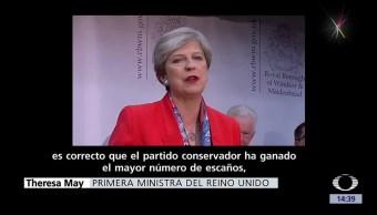 noticas, televisa, Theresa May, gana elecciones, no obtiene, mayoría absoluta en el Parlamento