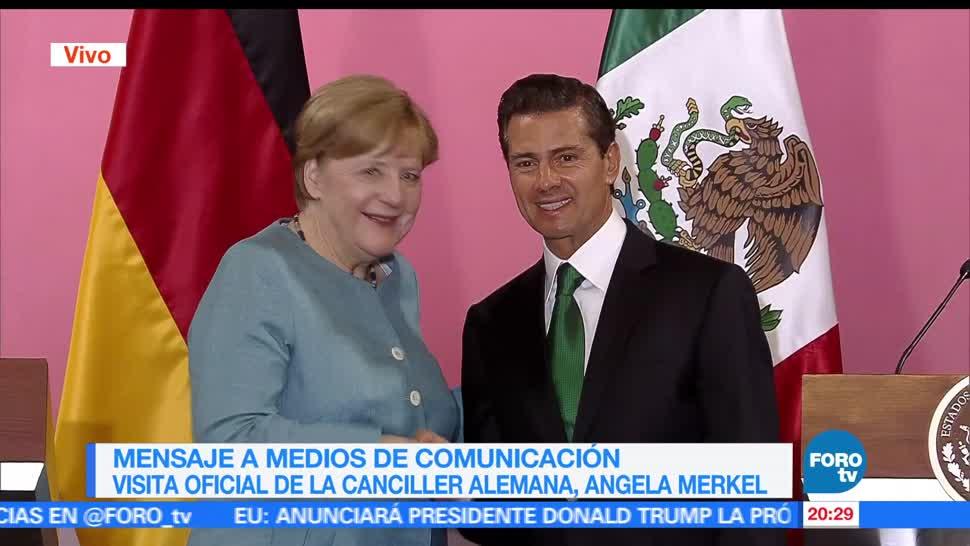 México, pide, Alemania, respaldo acuerdo comercial con la Unión Europea, conferencia, angela merkel