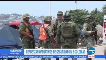 Refuerzan, operativos, seguridad, Acapulco