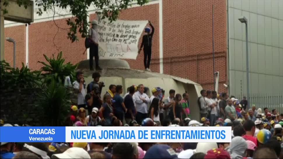 Nueva, jornada, enfrentamientos, Caracas, contra, Gobierno de maduro