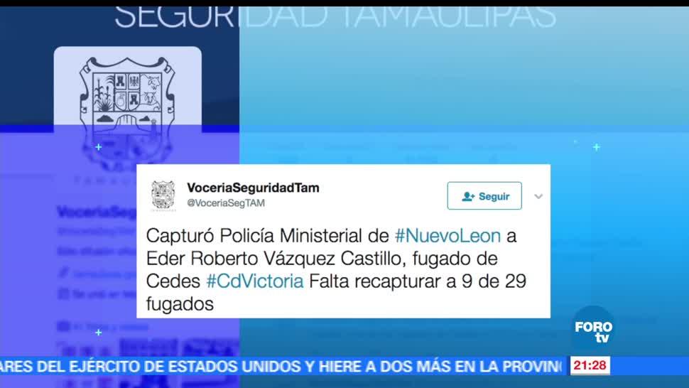 Recapturan, reo, escapó, penal, Ciudad Victoria, Tamaulipas
