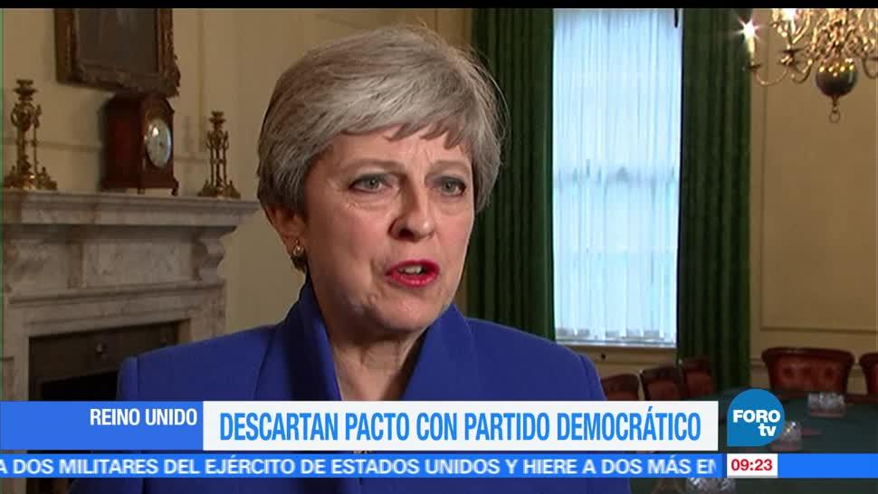 Reino Unido, gobierno conservador, primera ministra, Theresa May, partido democrático Unionista