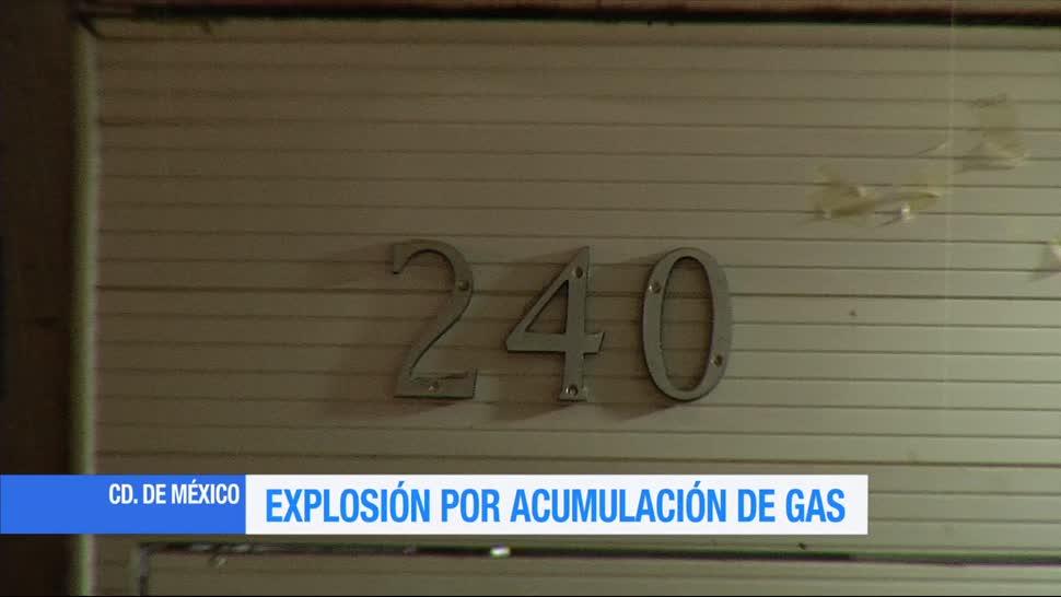 Explosión, acumulación de gas, Narvarte, Ciudad de México