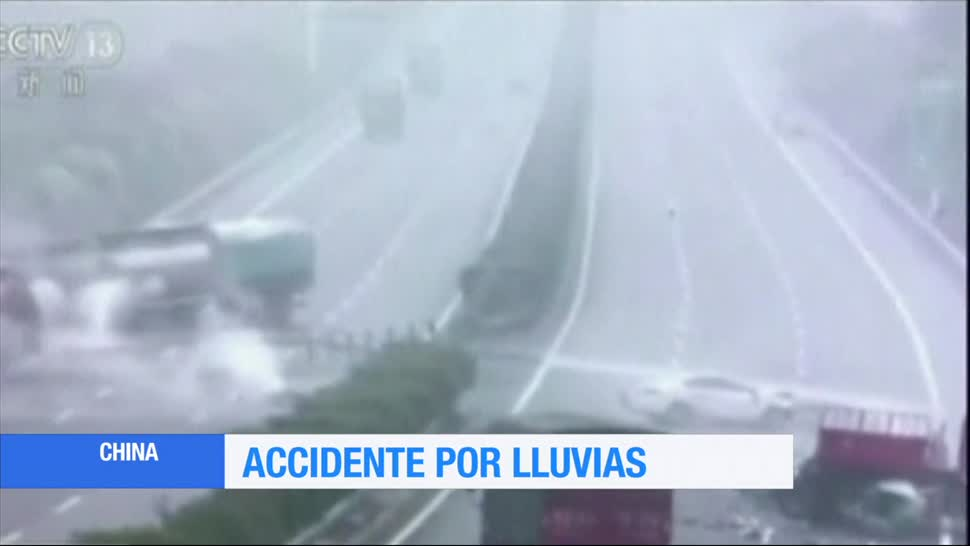 Accidente, china, lluvias,