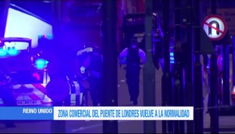 Zona comercial, puente, Londres, atentado terrorista