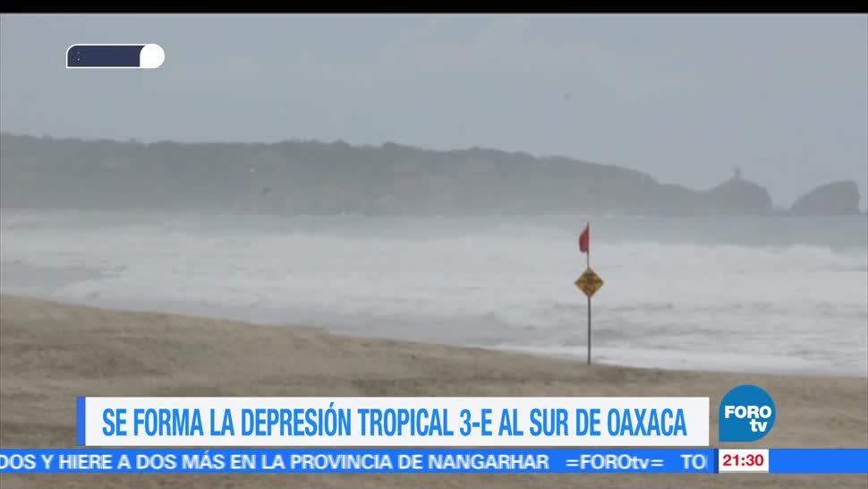 Se forma, depresión, tropical 3E, costas, Oaxaca, condiciones climatologicas