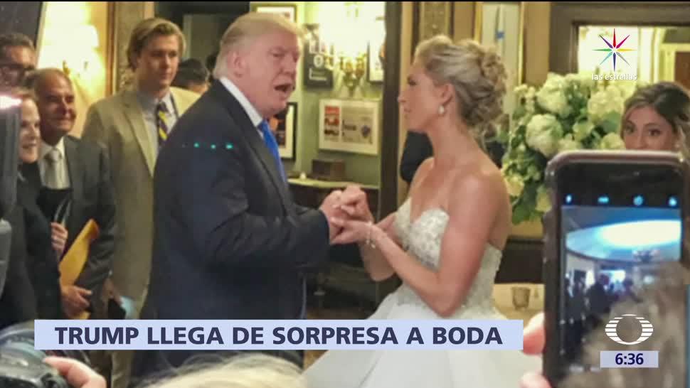 Donald Trump, pareja recién casada, boda, club de golf