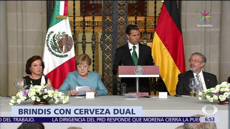 Angela Merkel, Enrique Peña Nieto, cerveza, empresas, mexicana, alemana