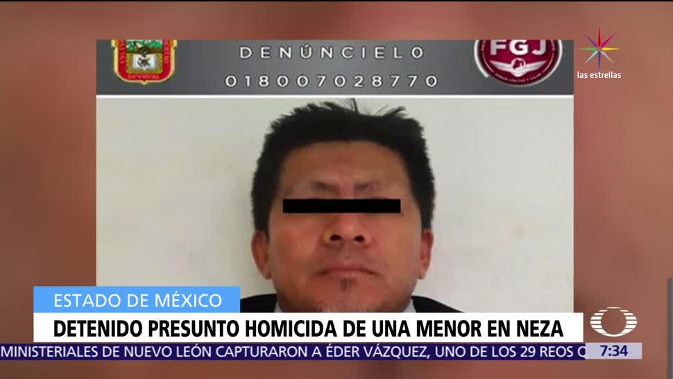 Autoridades del Estado de México, Estado de México, presunto asesino, niña, Nezahualcóyotl