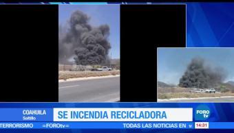 incendia, recicladora, Saltillo, Coahuila