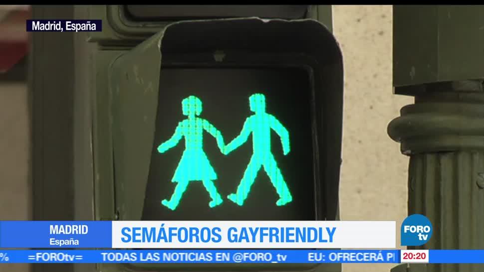 noticias, forotv, Semáforos, Madrid, reconocen, diversidad sexual