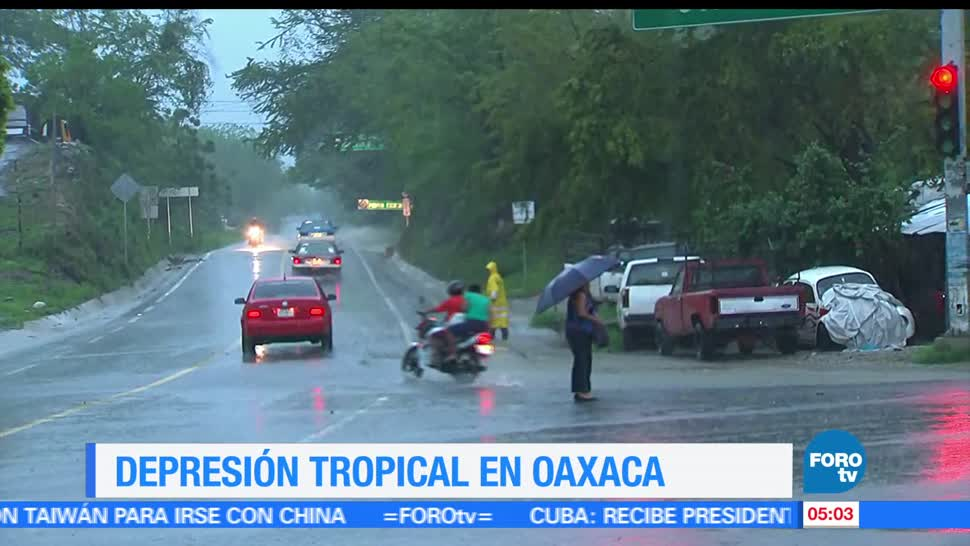 tormenta tropical Calvin, depresión tropical, Oaxaca, lluvias torrenciales