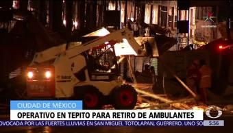 Policías de la CDMX, operativo, barrio de Tepito, comerciantes ambulantes