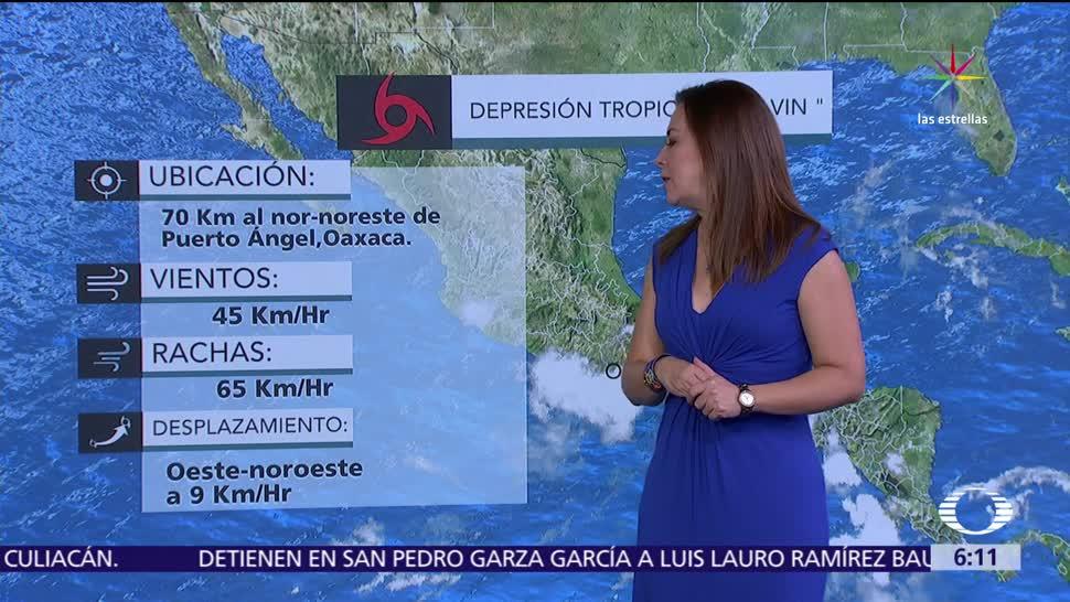 depresión tropical Calvin, Oaxaca, lluvias, Veracruz, Guerrero, Chiapas
