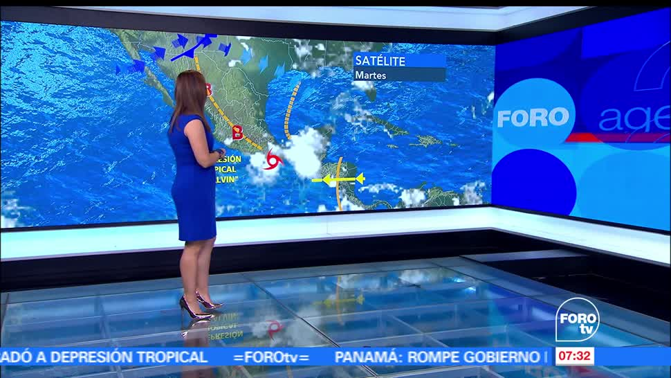 depresión tropical 'Calvin', 80 kilómetros, Puerto Ángel, Oaxaca, intensas lluvias, Guerrero