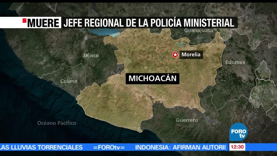 Asesinan a Enrique Rodríguez Rodríguez, jefe regional, Policía Ministerial de Michoacán, Morelia