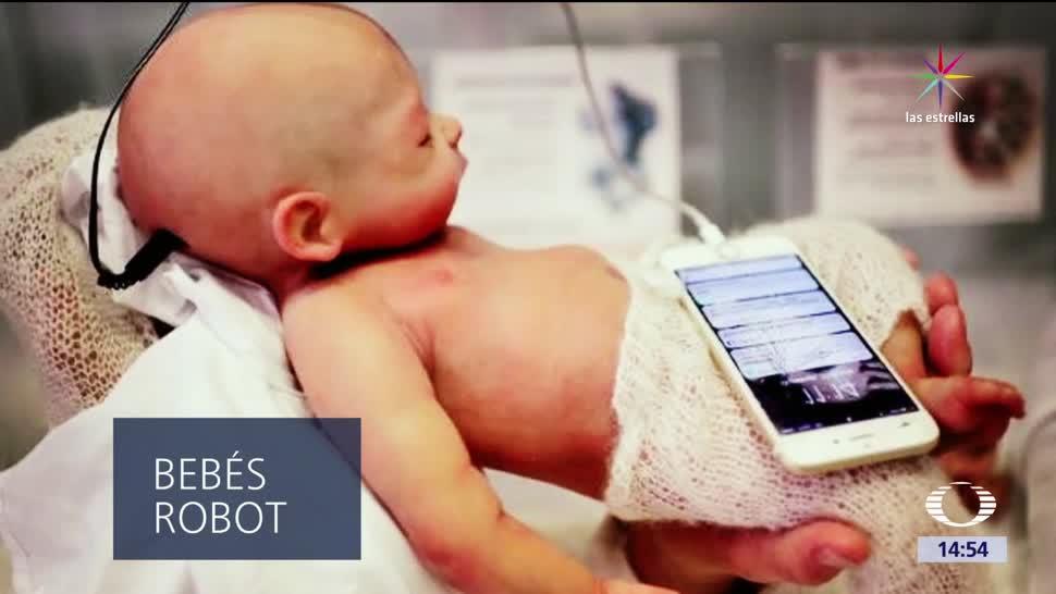 Baby Clon Animatronic, androide, simula, bebé humano