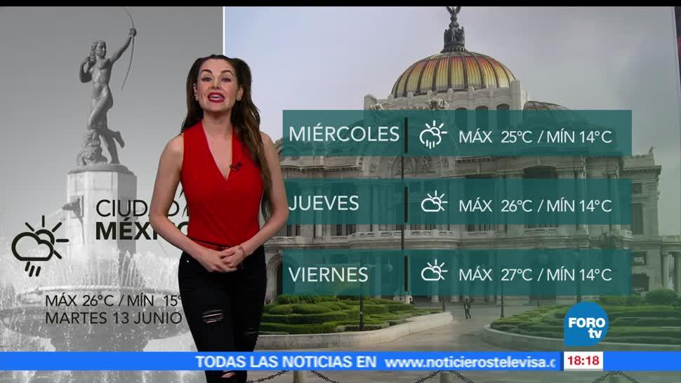 El clima, Mayte Carranco, Baja remanente Calvin, lluvias